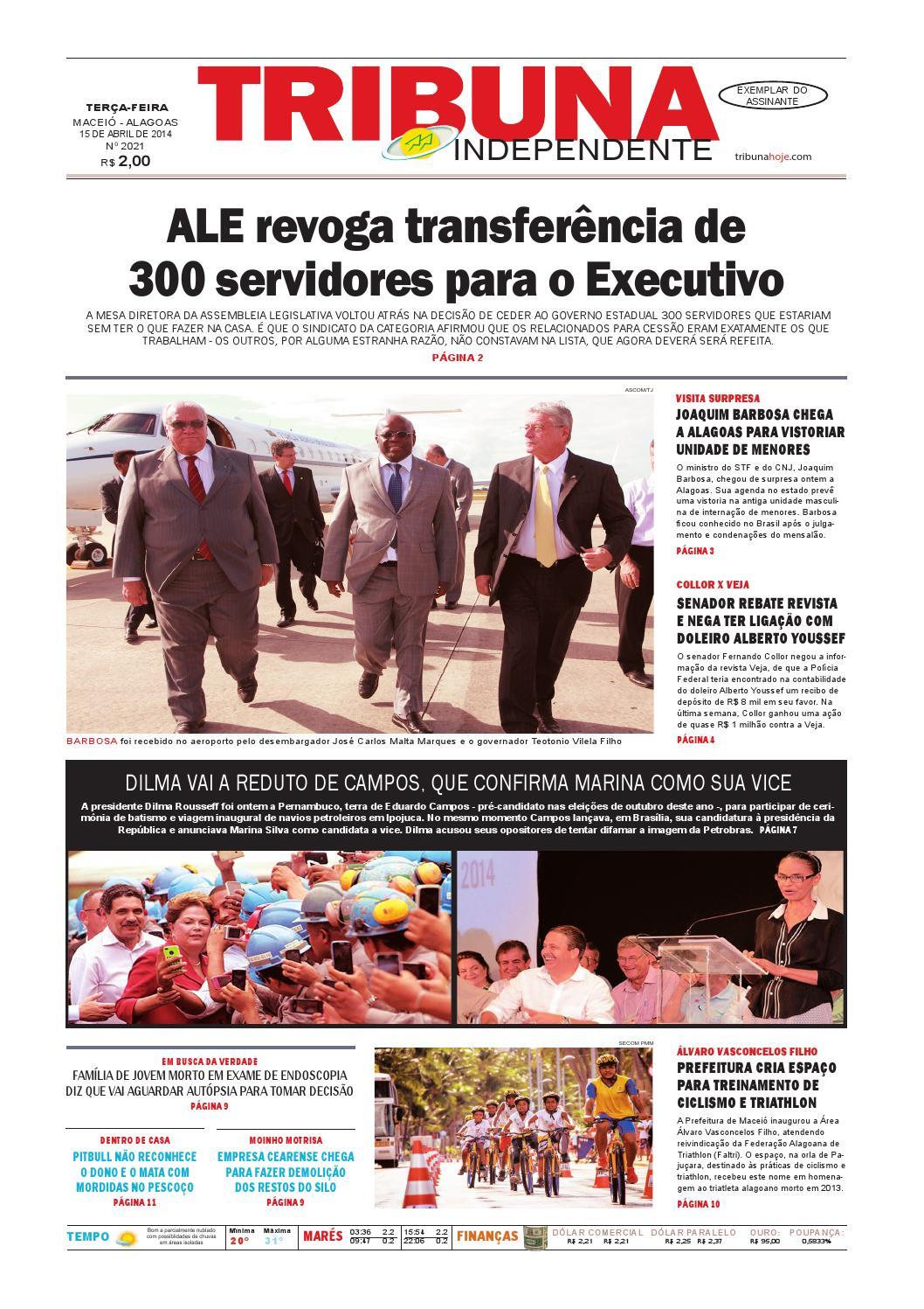 d3563e685 Edição número 2021 - 15 de abril de 2014 by Tribuna Hoje - issuu