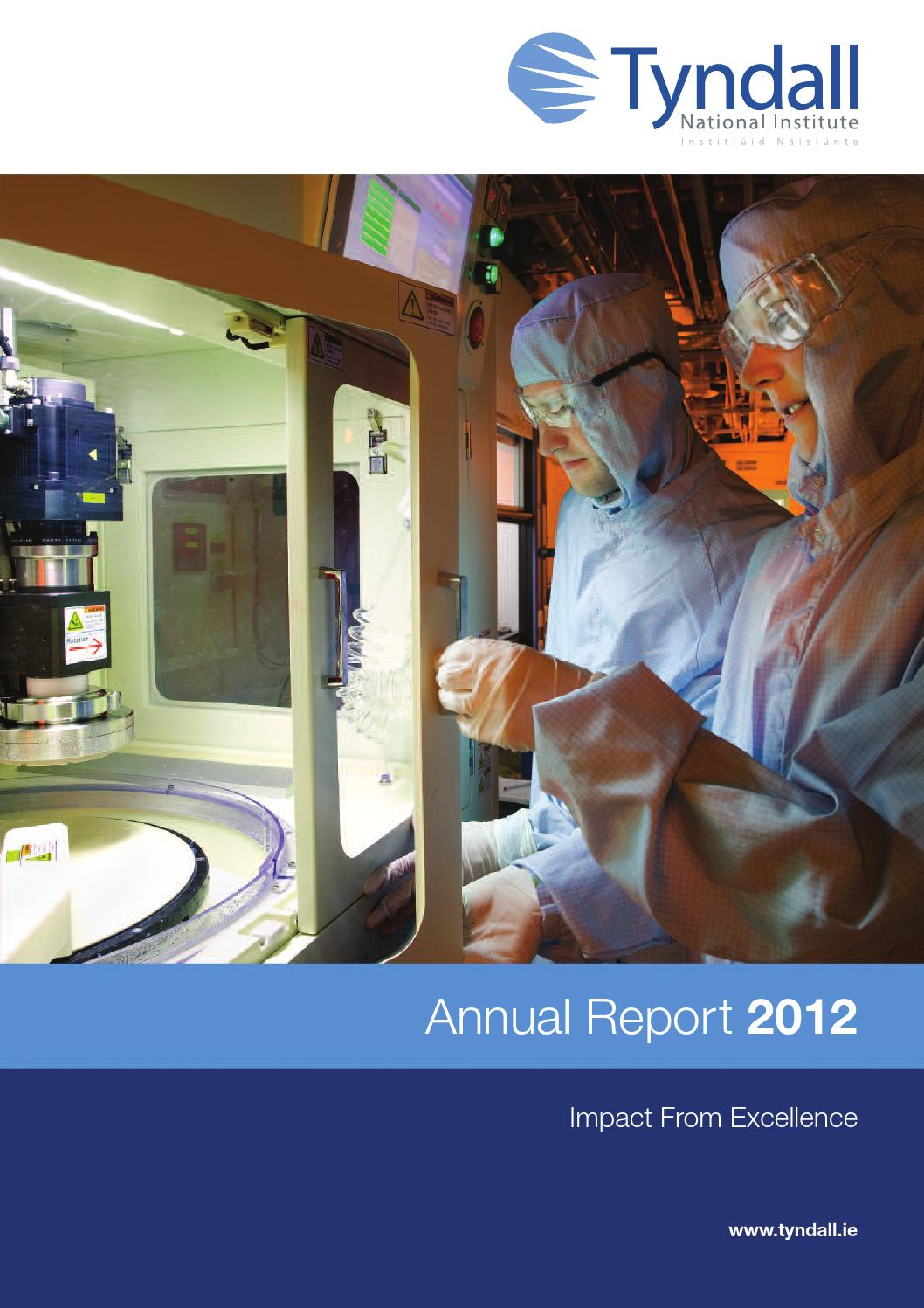 Tyndall Annual Report 2012 by Anthony MacCarthy - issuu