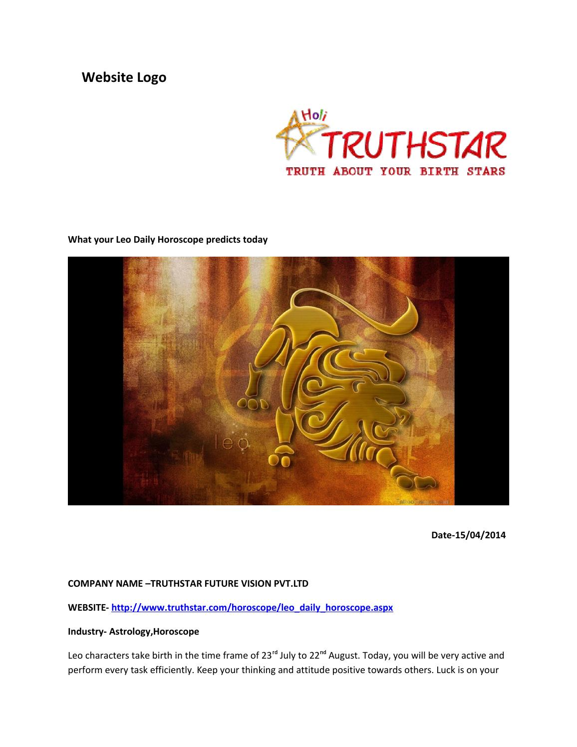 leo daily love horoscope truthstar