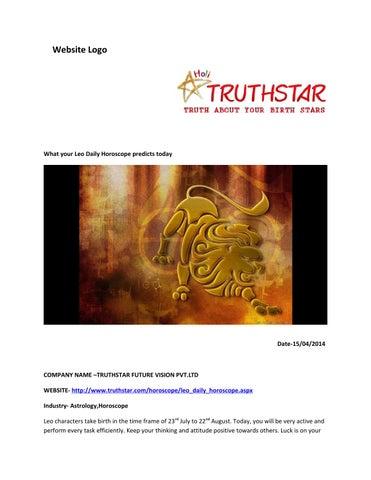 leo daily horoscope truthstar