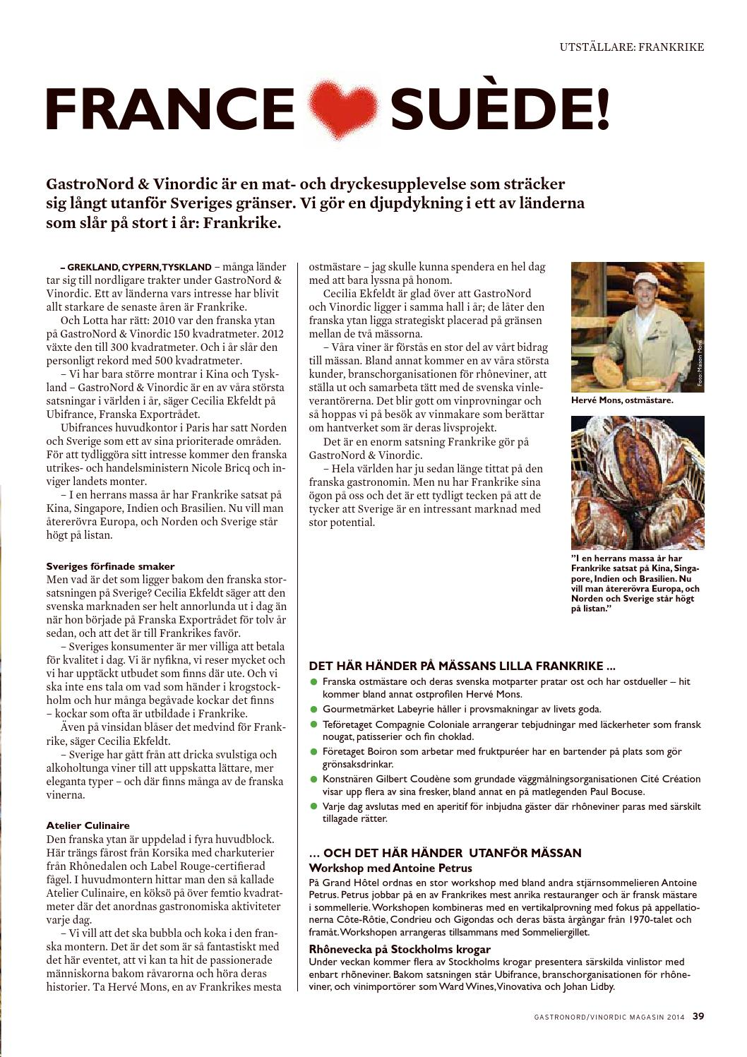Gastronord Vinordic 2014 By Newsfactory Media Group Issuu