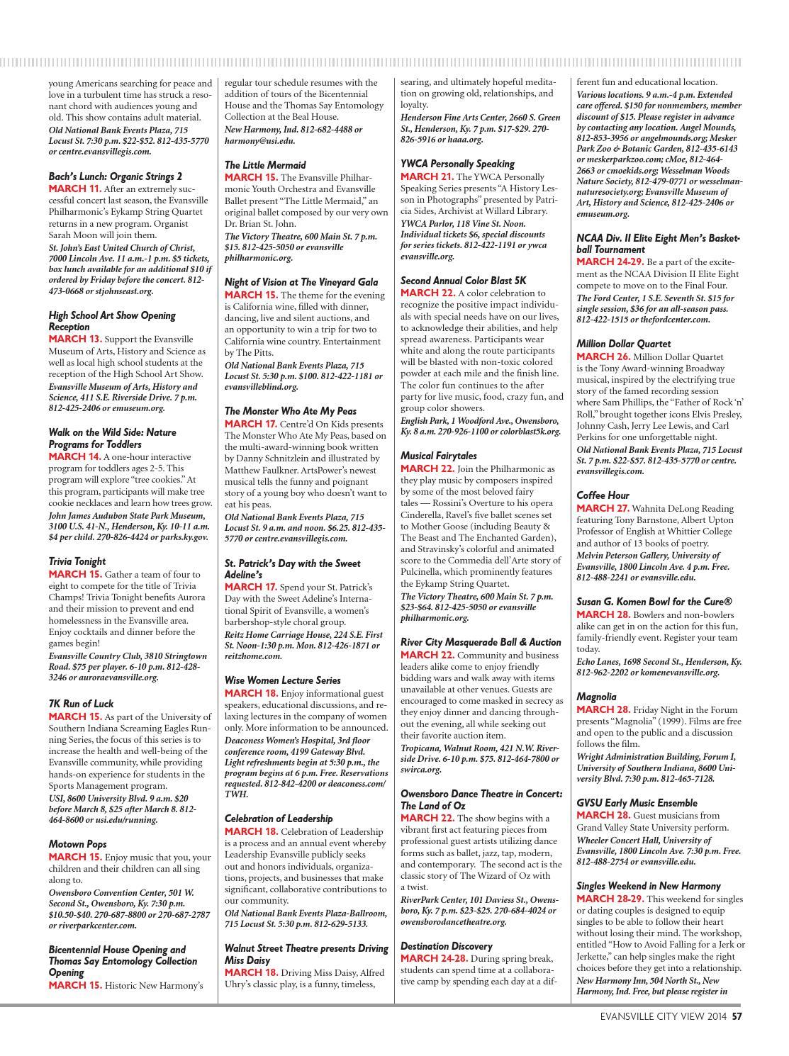 Evansville City View 2014 by Evansville Living Magazine - issuu