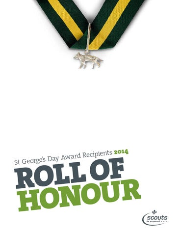Roll of honour 2014 by The Scout Association - issuu