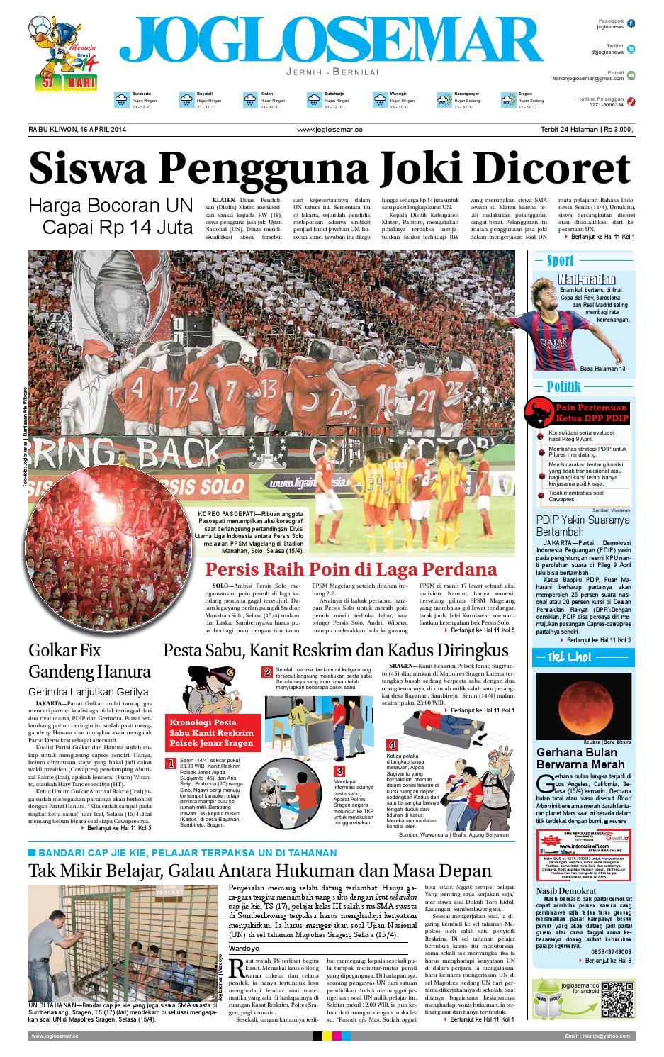 Epaper edisi 16 april 2014 by PT Joglosemar Prima Media - issuu 0a9f3fabf5