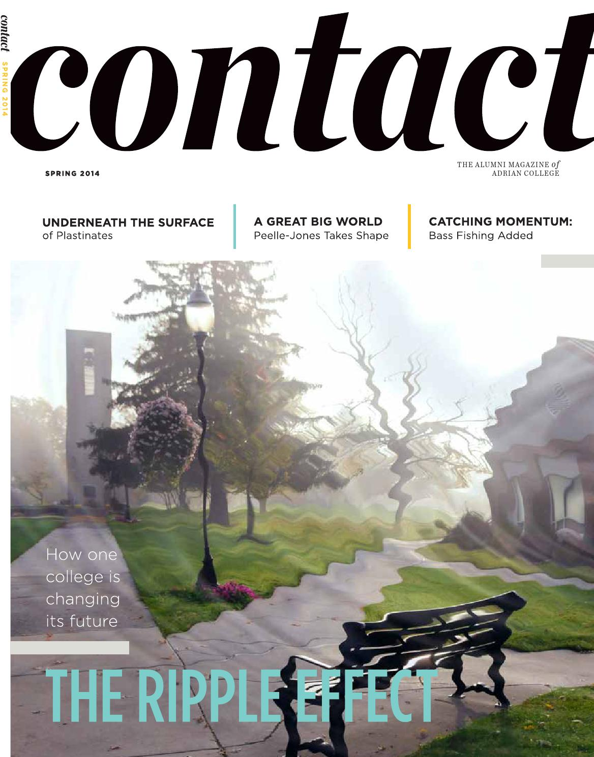 Contact Magazine - Spring 2014 by Adrian College - issuu