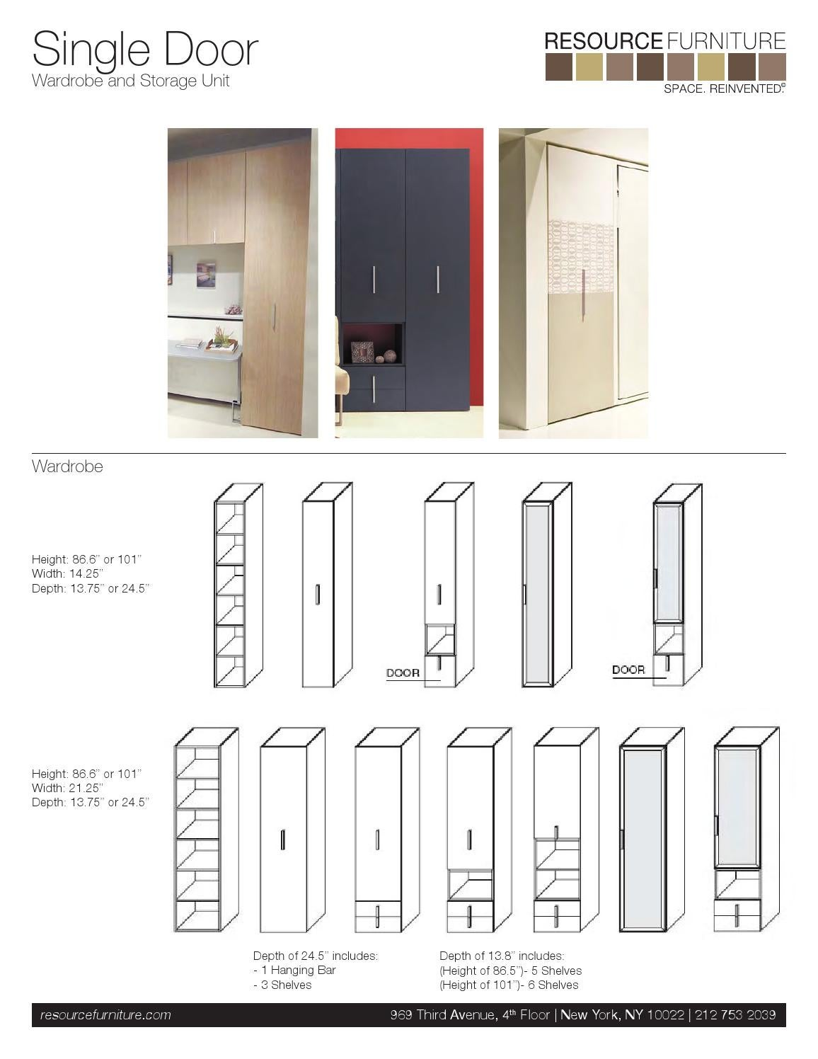 Closet System Specs And Dimensions By Resource Furniture Issuu