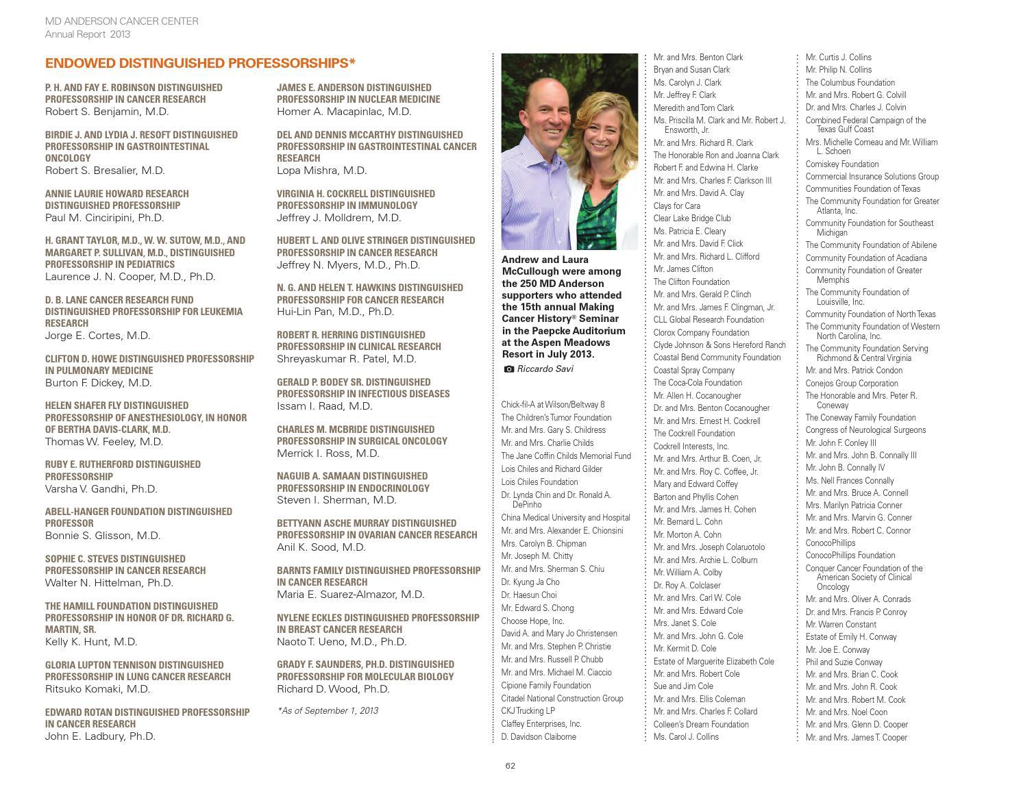 MD Anderson Annual Report 2012-2013
