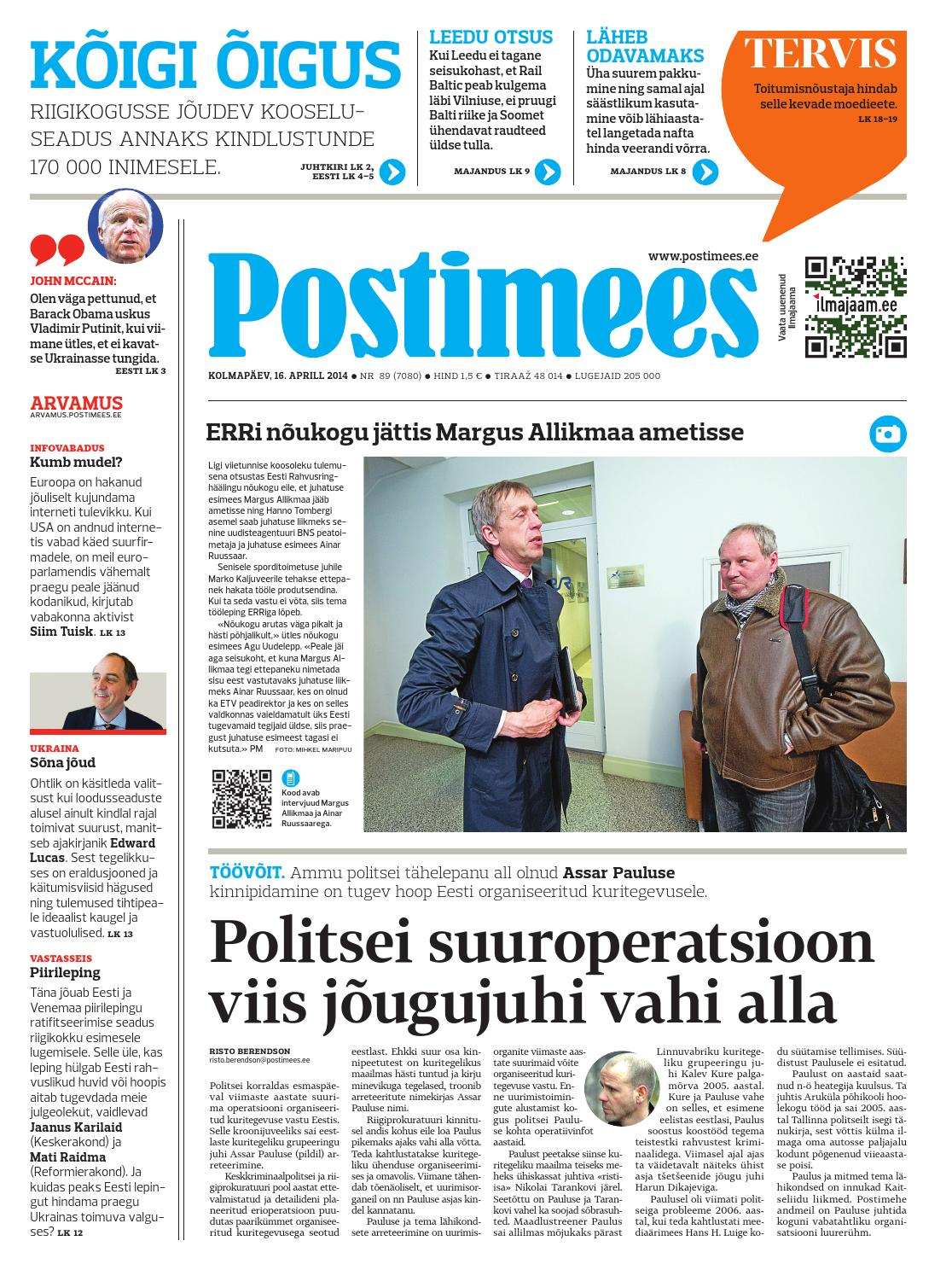 e5708236dd0 Postimehe paberleht by Postimees - issuu