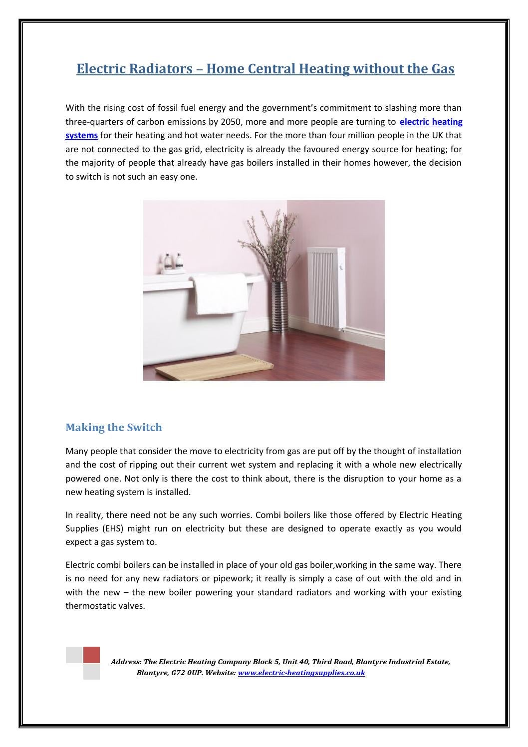 Electric radiators – home central heating without the gas by ...