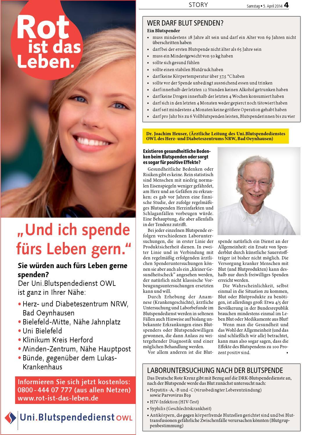 herz und diabeteszentrum bad oeynhausen blutspende drk
