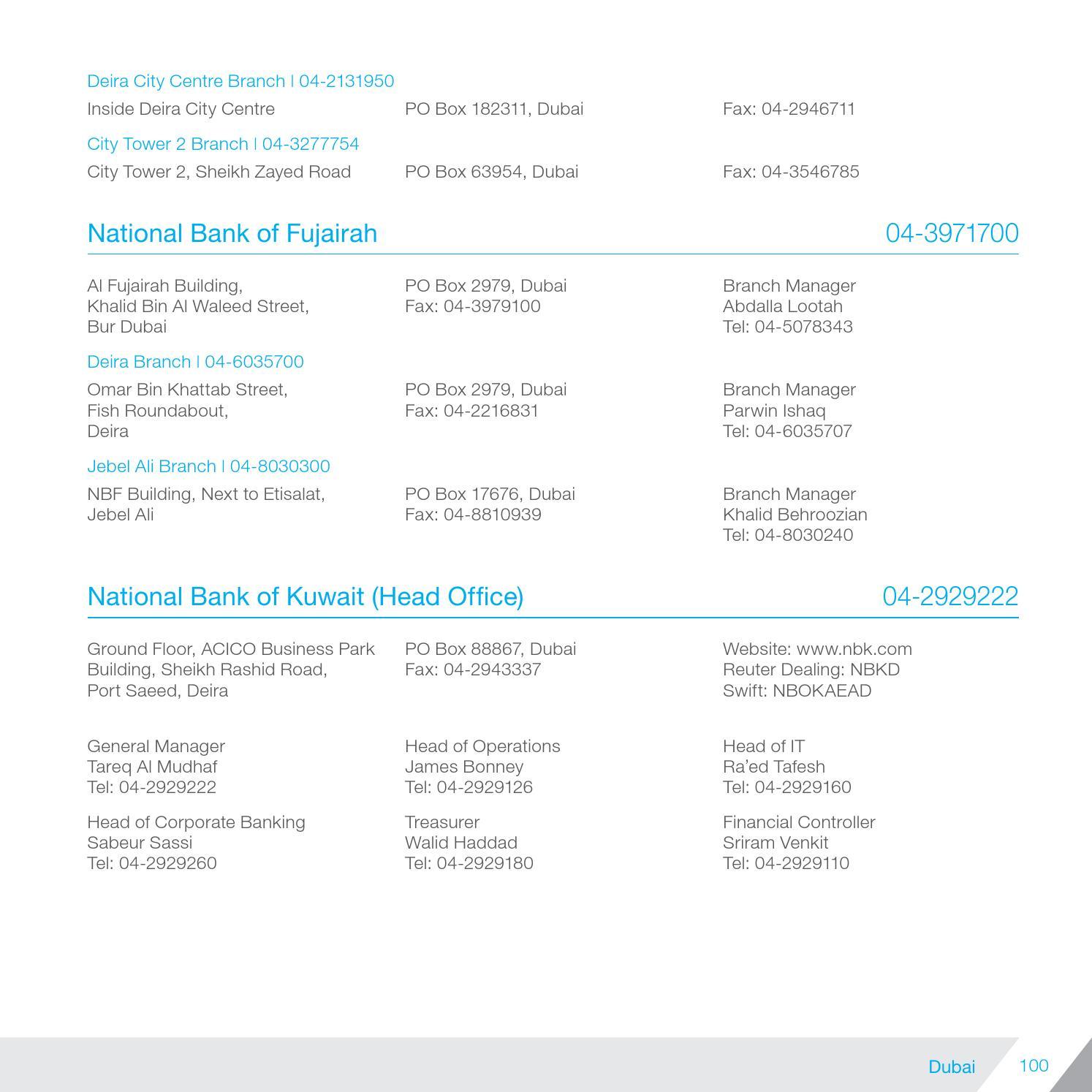 NBF UAE Bank Directory 2014 by Karl Ha - issuu