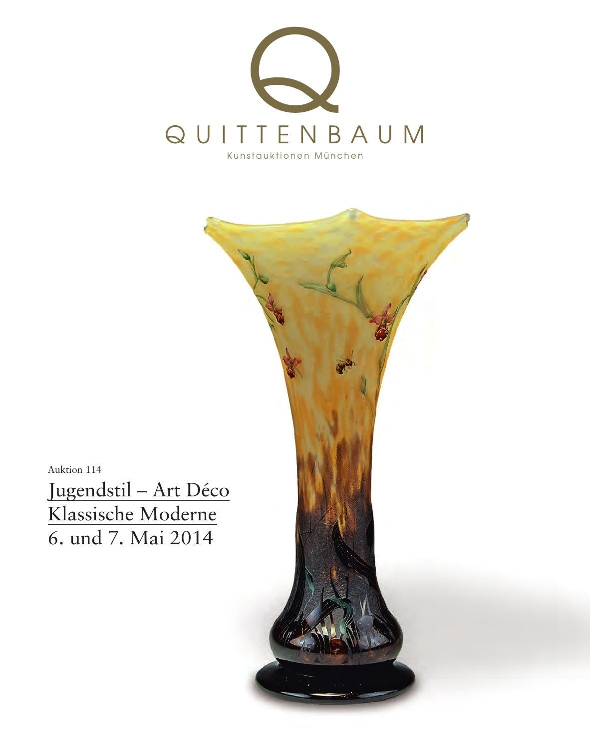 Auction 114 | Art Nouveau - Art Deco - Modern Classic | Quittenbaum ...