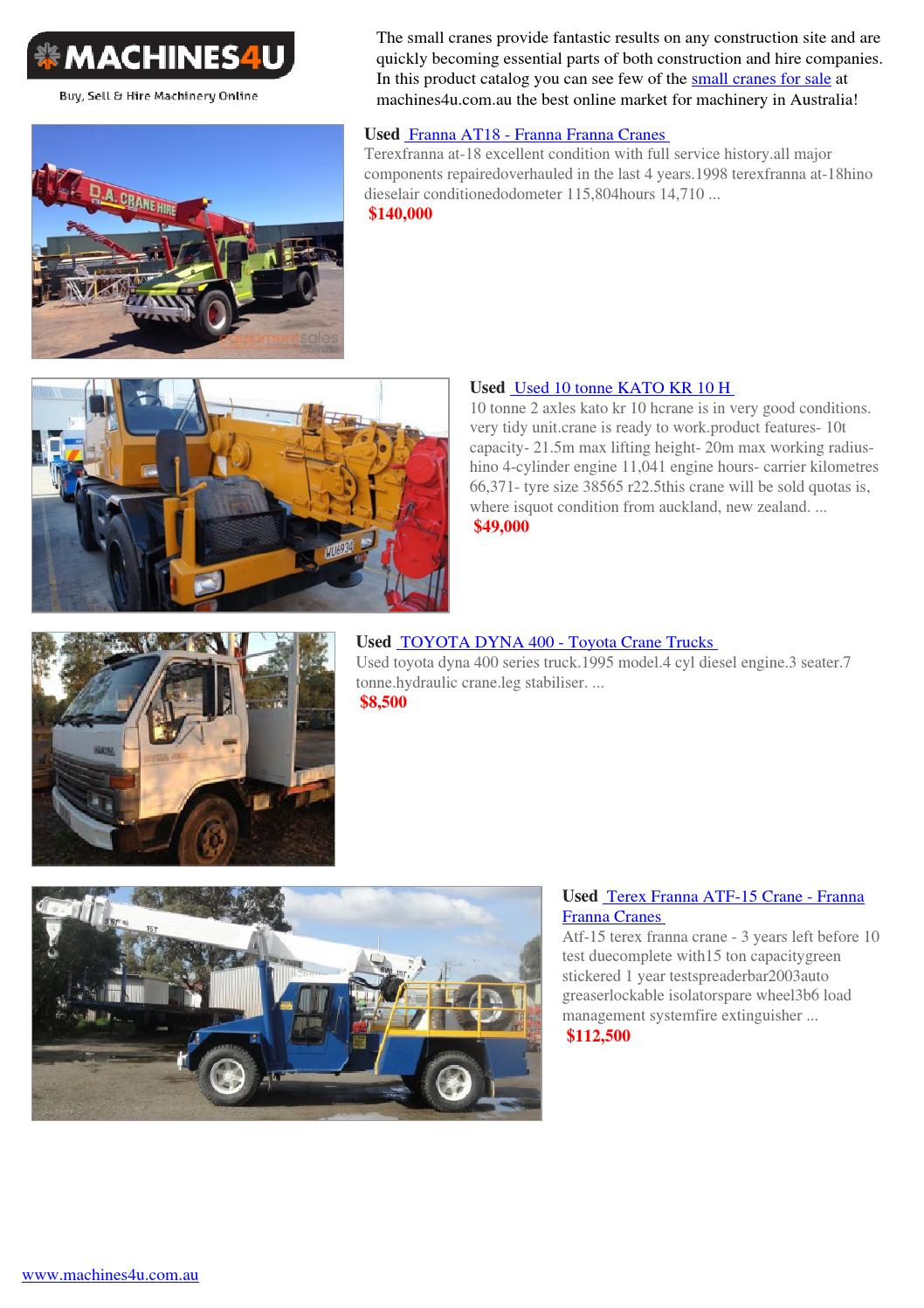 Small cranes for sale by Machines4u - issuu
