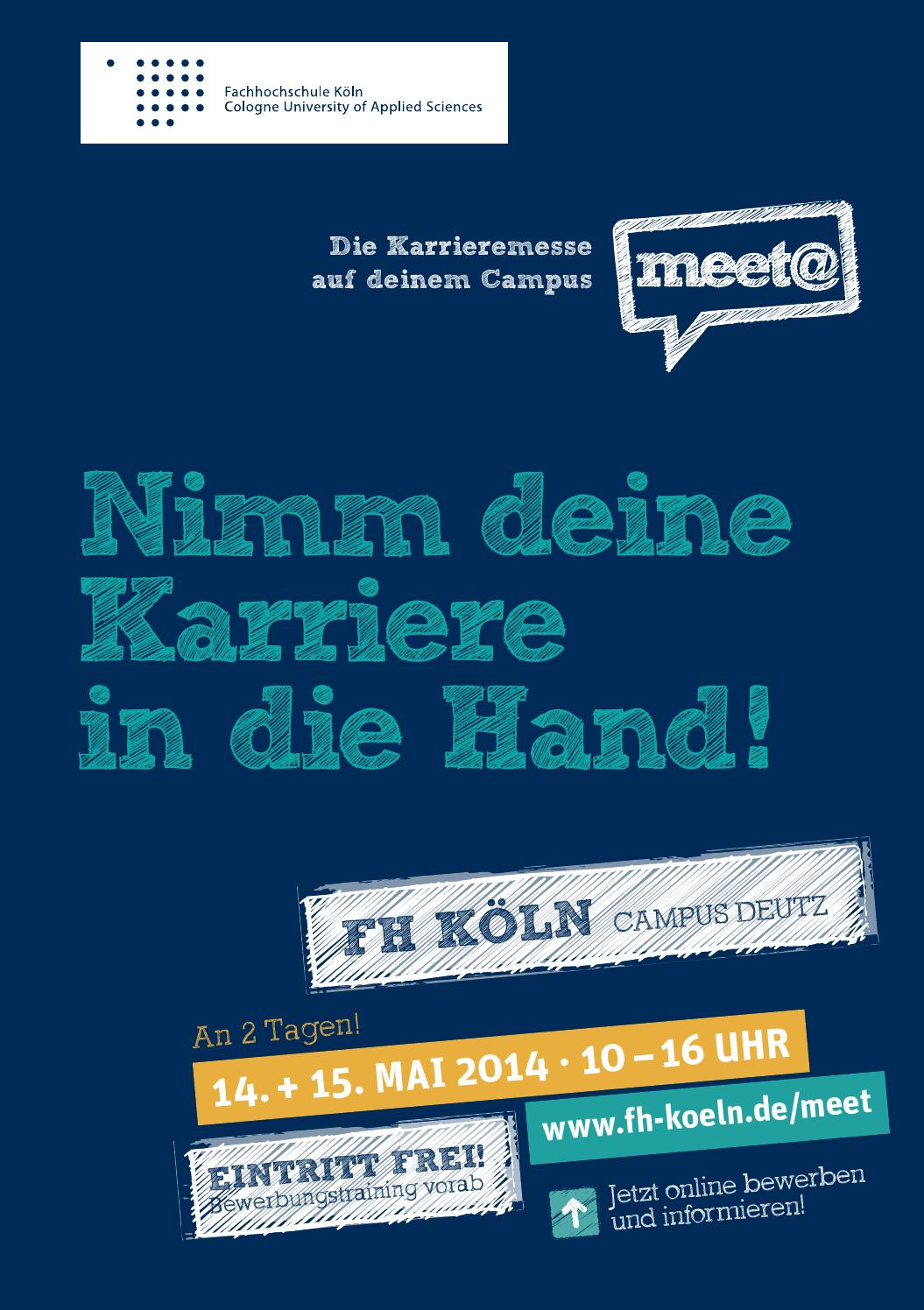 messeguide meetfh koeln 2014 by iqb career services ag issuu - Fh Koln Bewerbung
