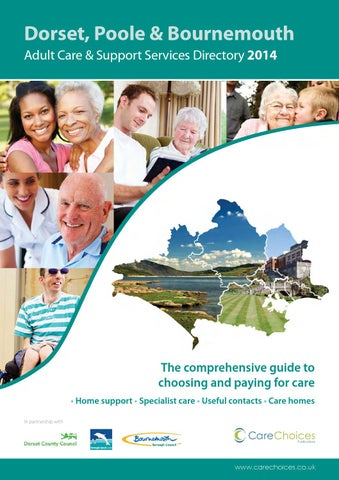 Dorset Poole Bournemouth Adult Care Support Services Directory 2014