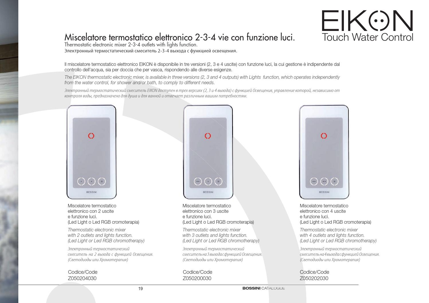 Luci Led Per Cromoterapia eikon touch water control by bossini spa - issuu