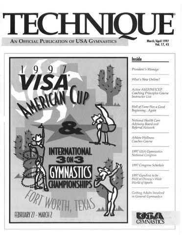Technique Magazine - March 1997 by USA Gymnastics - issuu