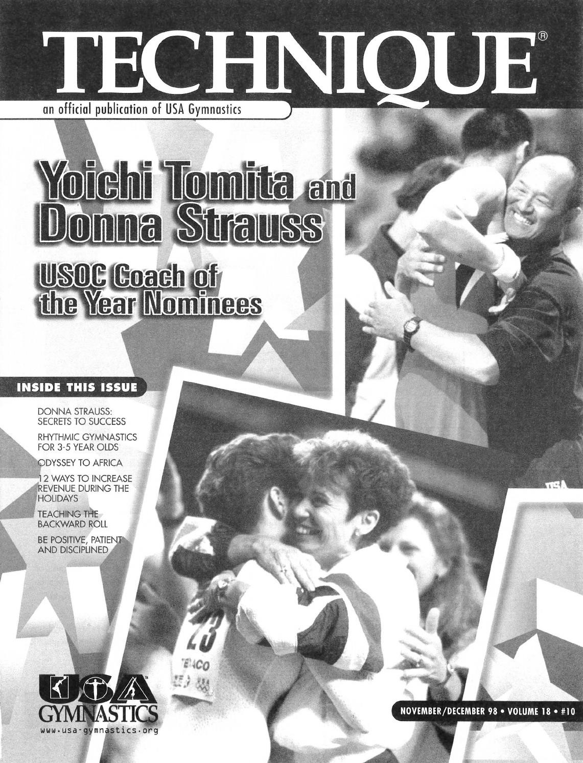Technique Magazine November December 1998 By USA Gymnastics Issuu