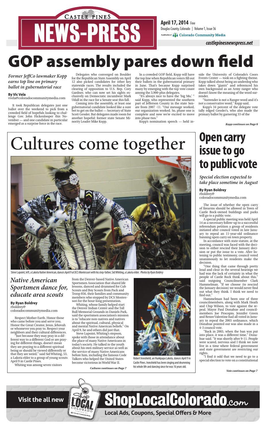 1ad6187191e0a3 Castle pine news press 0417 by Colorado Community Media - issuu