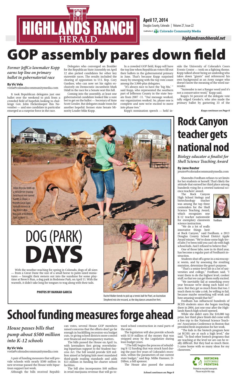 Highlands ranch herald 0417 by Colorado Community Media - issuu