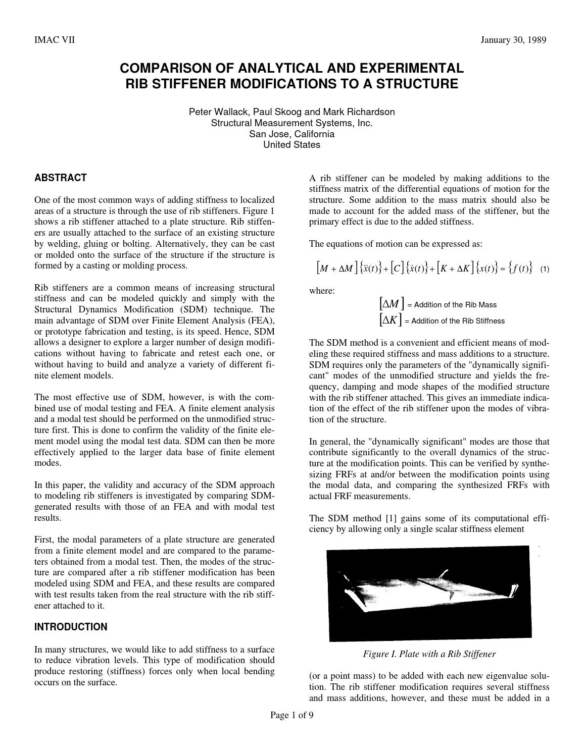 Paper 14 - Comparison of Analytical and Experimental Rib