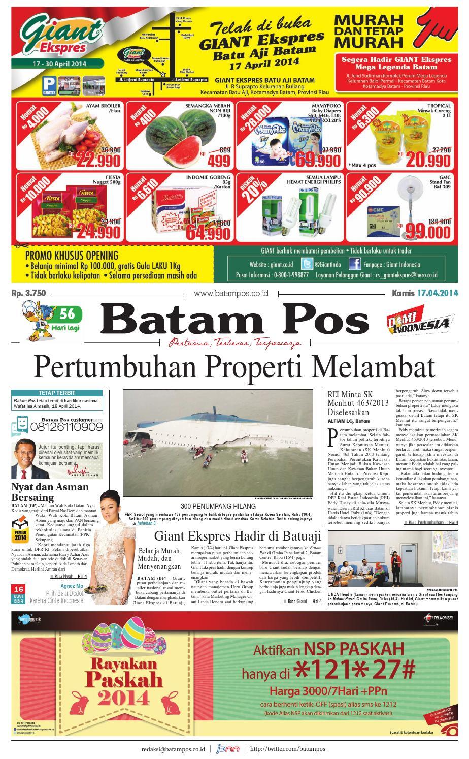 17 April 2014 By Batampos Newspaper Issuu Produk Ukm Bumn Bunge Tanjung Betabur