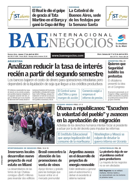 DiarioBAE-2014-04-17 by Grupo Crónica - issuu 9bfcd1e3b11