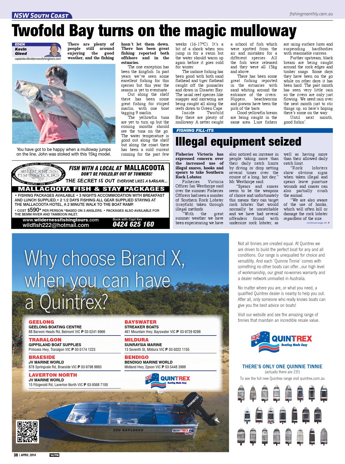 Victoria and Tasmania Fishing Monthly - April 2014