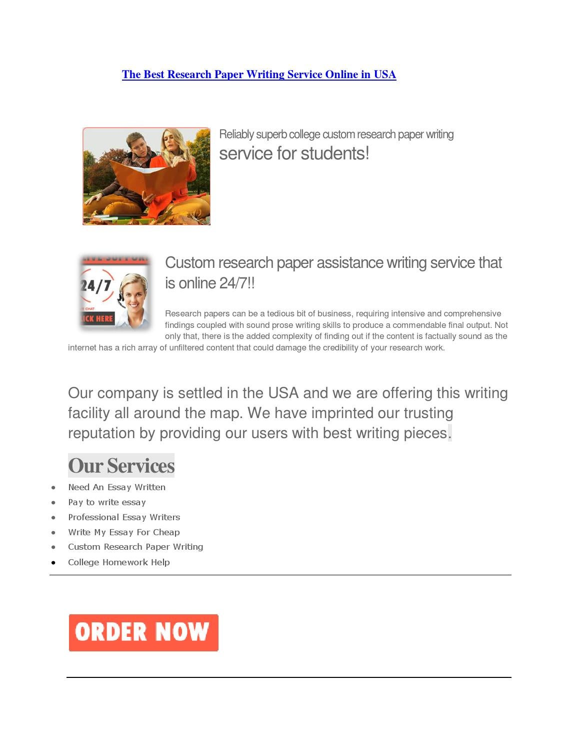 Online term paper writers