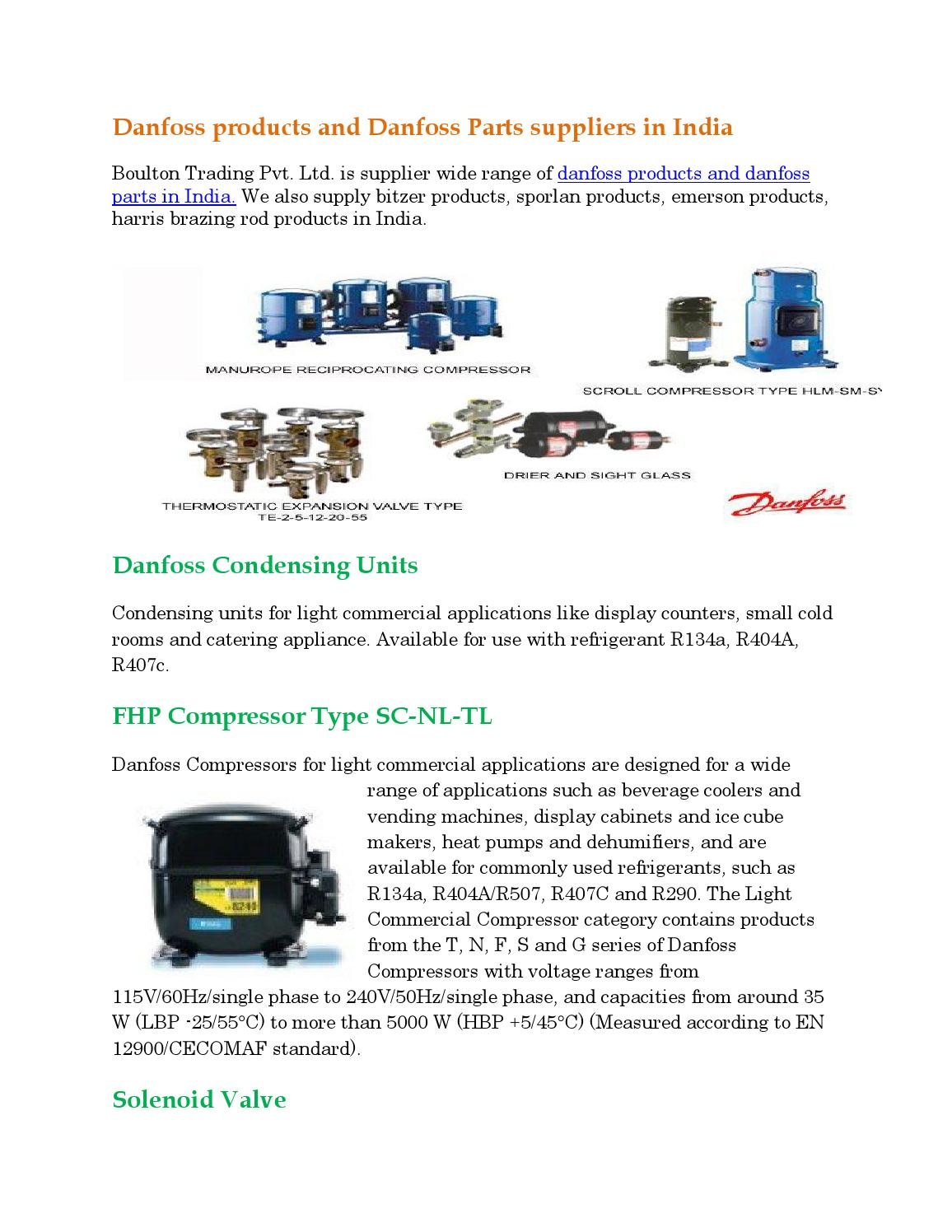 Danfoss products suppliers in india pdf 3 by Boulton Trading Pvt