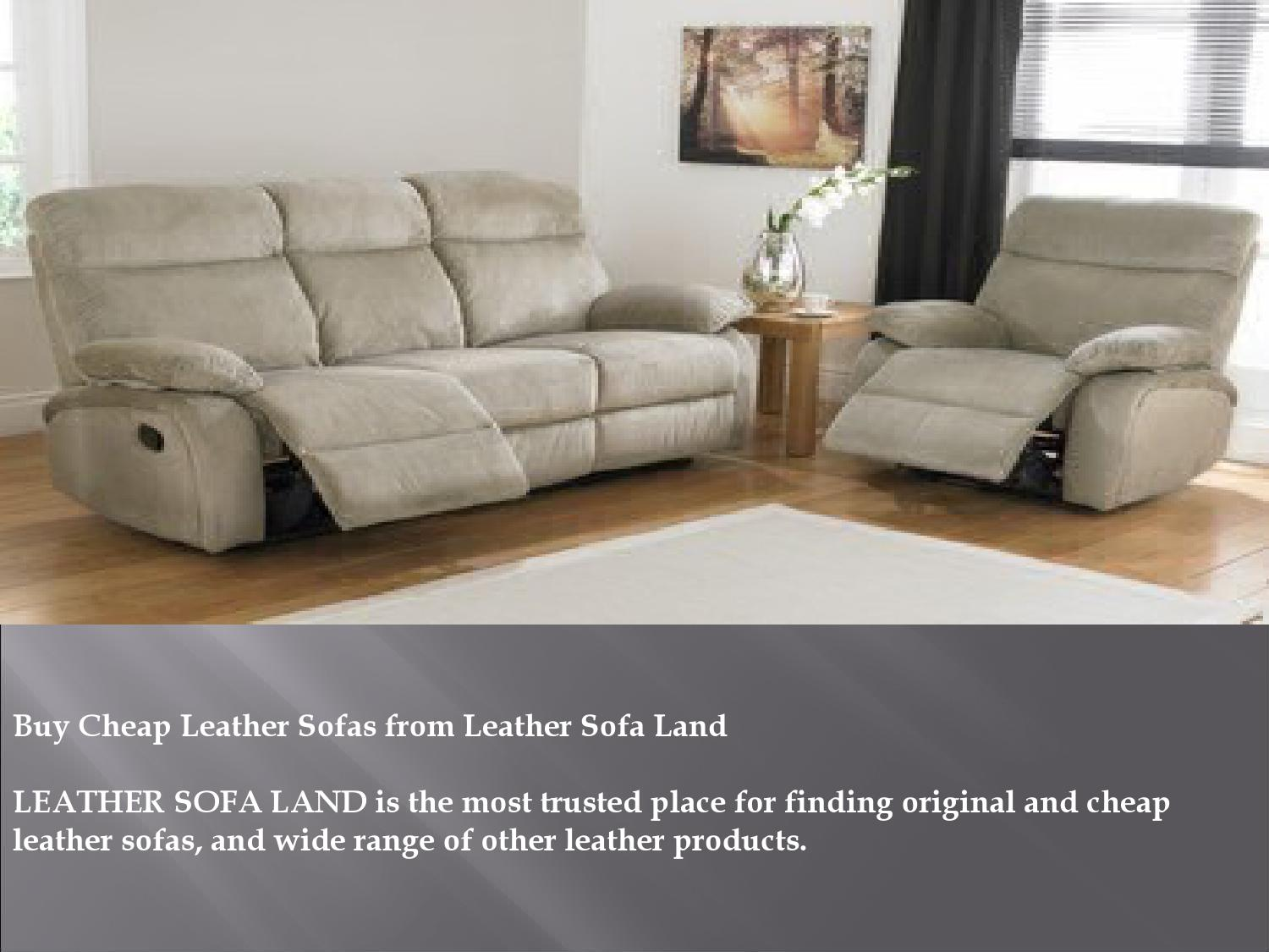 Buy Cheap Leather Sofas from Leather Sofa Land by Maxwell ...