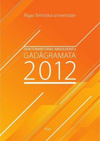 RTU Doktorantūras absolventu gadagrāmata 2012