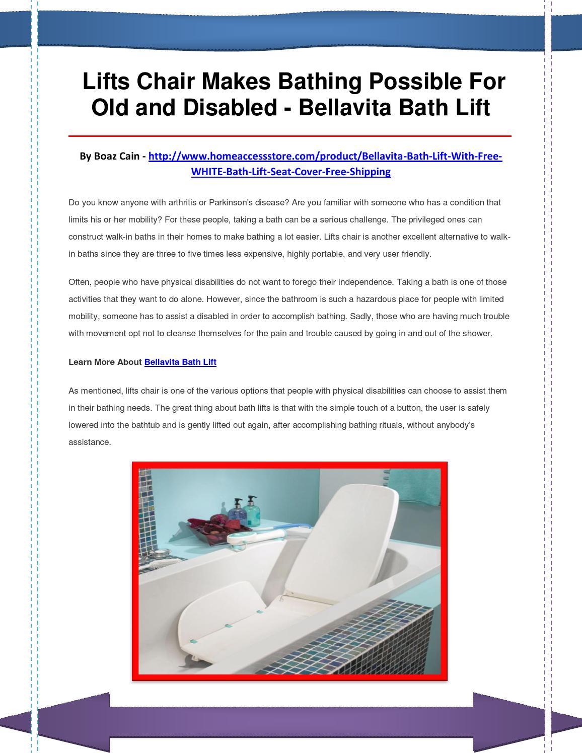 Bellavita Bath Lift By Qwasdfbnmk Issuu