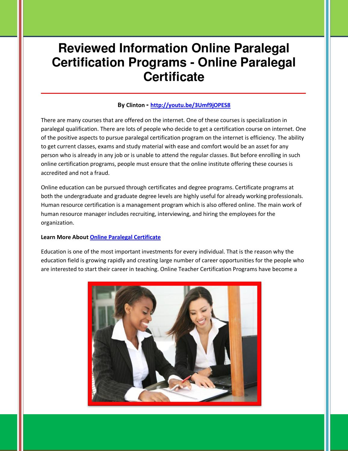 Online Paralegal Certificate By Xcdfgbhjnm Issuu