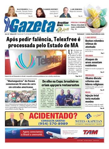 7ec4ec375c61b Edição 879 - De 17 a 23 de abril de 2014. by Gazeta Brazilian News ...