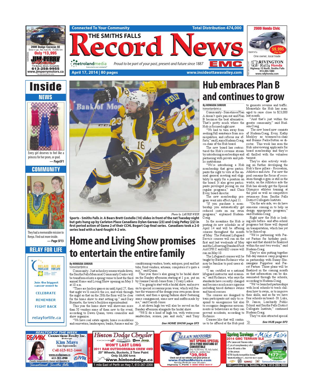 Smithsfalls041714 by Metroland East - Smiths Falls Record