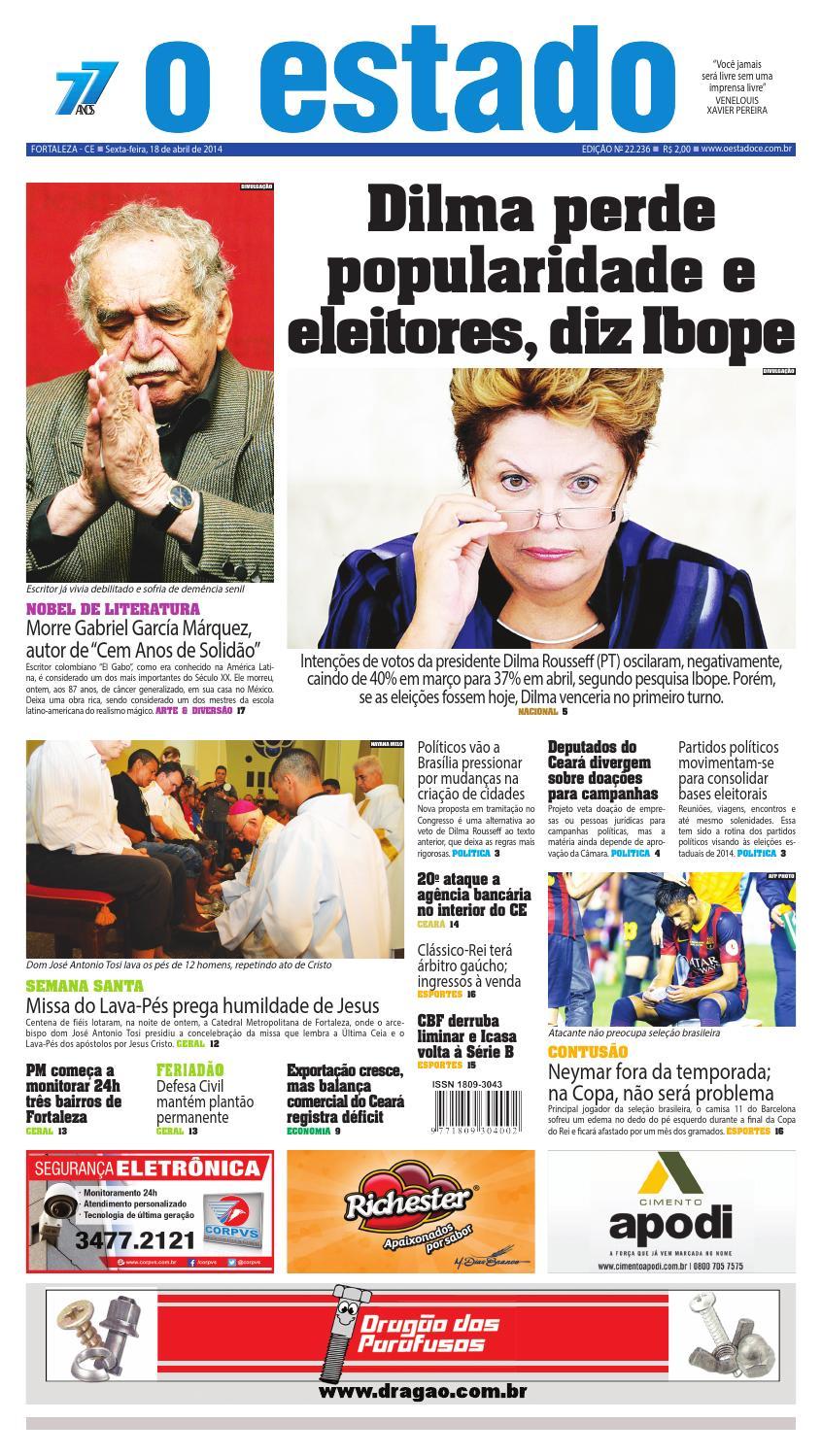 Edição 22236 -18 de abril de 2014 by Jornal O Estado (Ceará) - issuu 90a9ce62e63f5