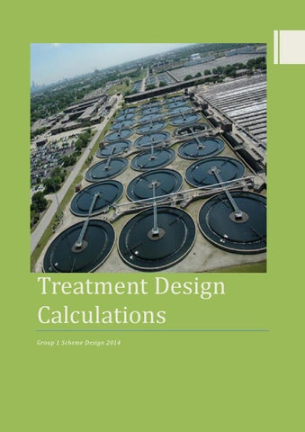 Wastewater Treatment System Design Calculations by ...