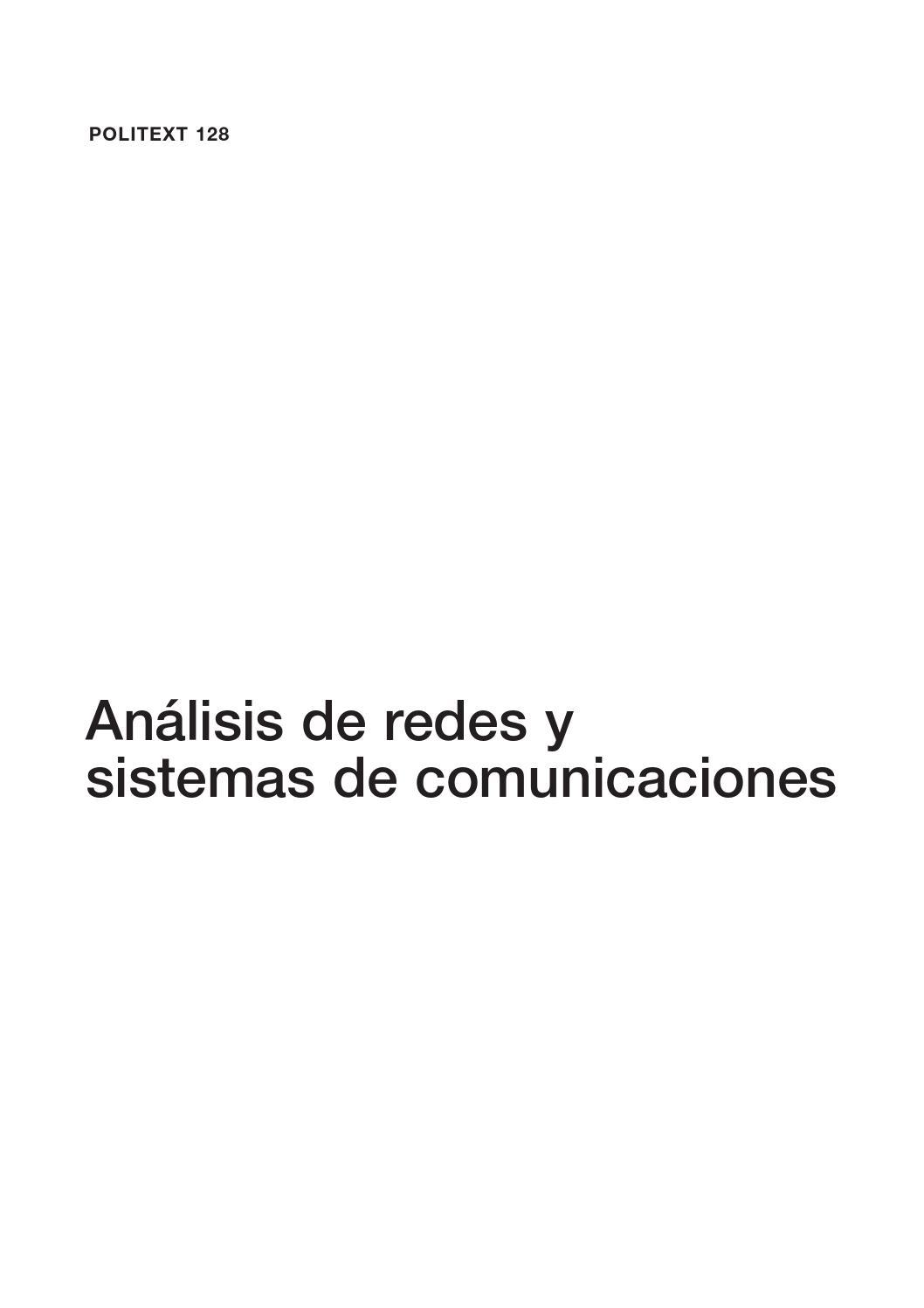 Análisis de redes y sistemas de comunicaciones by klucho19 - issuu