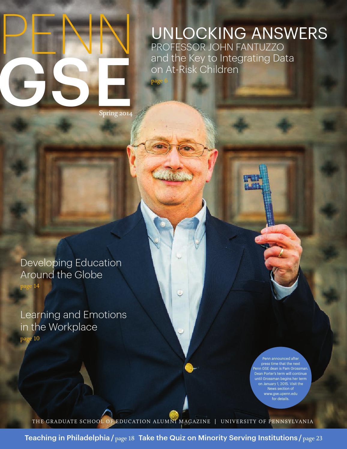 4af6006d68c The Penn GSE Alumni Magazine - Spring 2014 by Penn GSE - issuu
