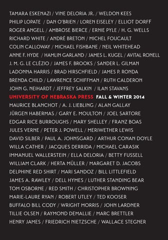 Fallwinter 2014 catalog by university of nebraska press issuu page 1 fandeluxe Gallery