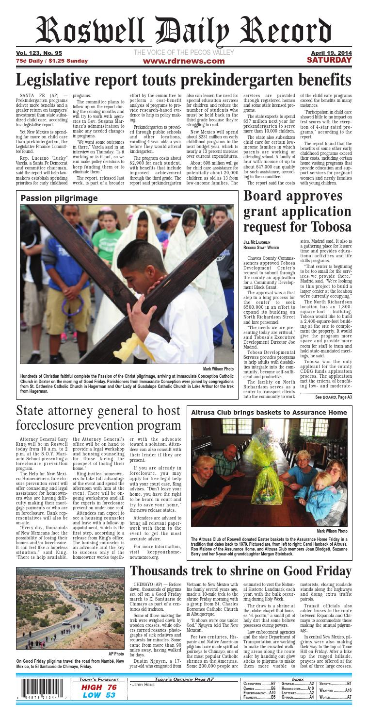 04 19 14 Roswell Daily Record by Roswell Daily Record - issuu
