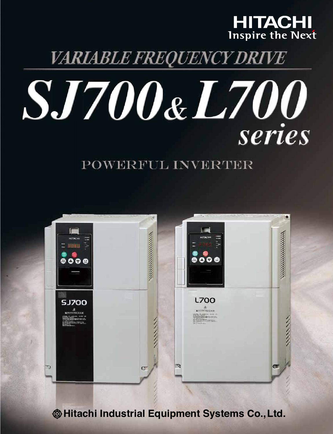 Hitachi Sj700 And L700 Series Industrial Inverters Variable Forward Reverse Operation Of The Dynamic Braking Circuit 2 Frequency Drives Brochure By America Ltd Components Equipment
