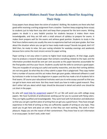 assignment makers Cheap resume service assignment makers resume layout example help making resume.
