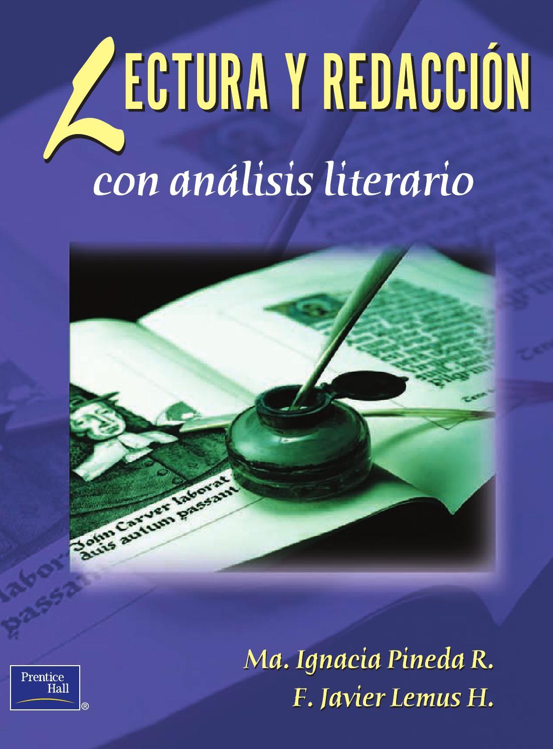 11032014lectura y redacción con análisis literario 1edi by Miguel ...