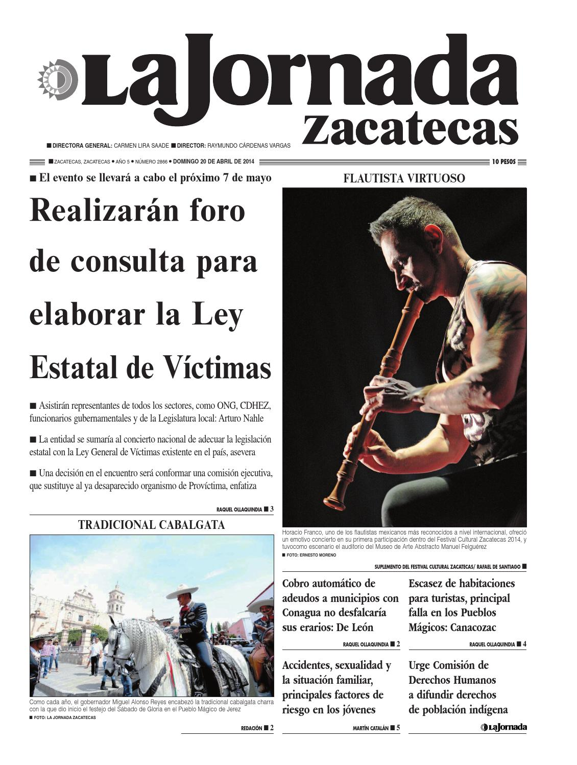 La Jornada Zacatecas Domingo 20 De Abril De 2014 By La Jornada  # Muebles Tumoine