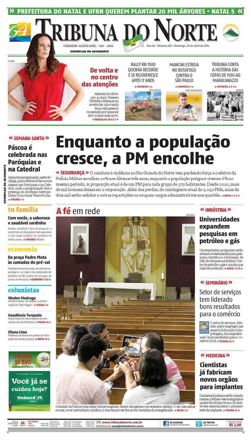fc76d333f20ab Tribuna do Norte - 20 04 2014 by Empresa Jornalística Tribuna do Norte Ltda  - issuu