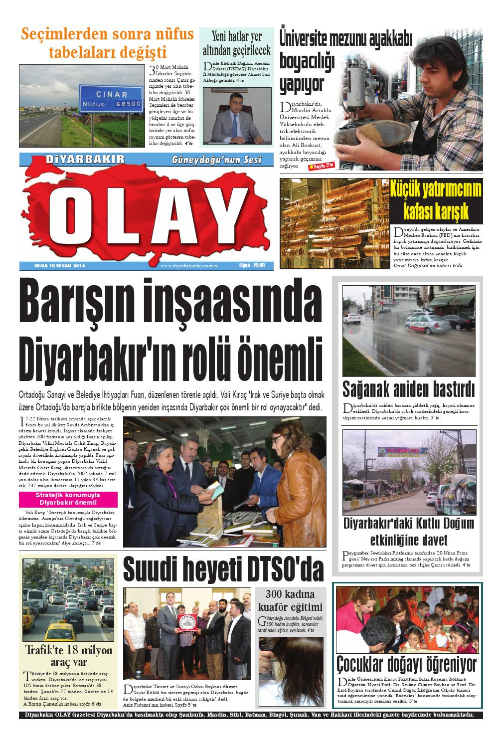 18 04 2014 Gazete Sayfalari By Diyarbakir Olaygazetesi Issuu