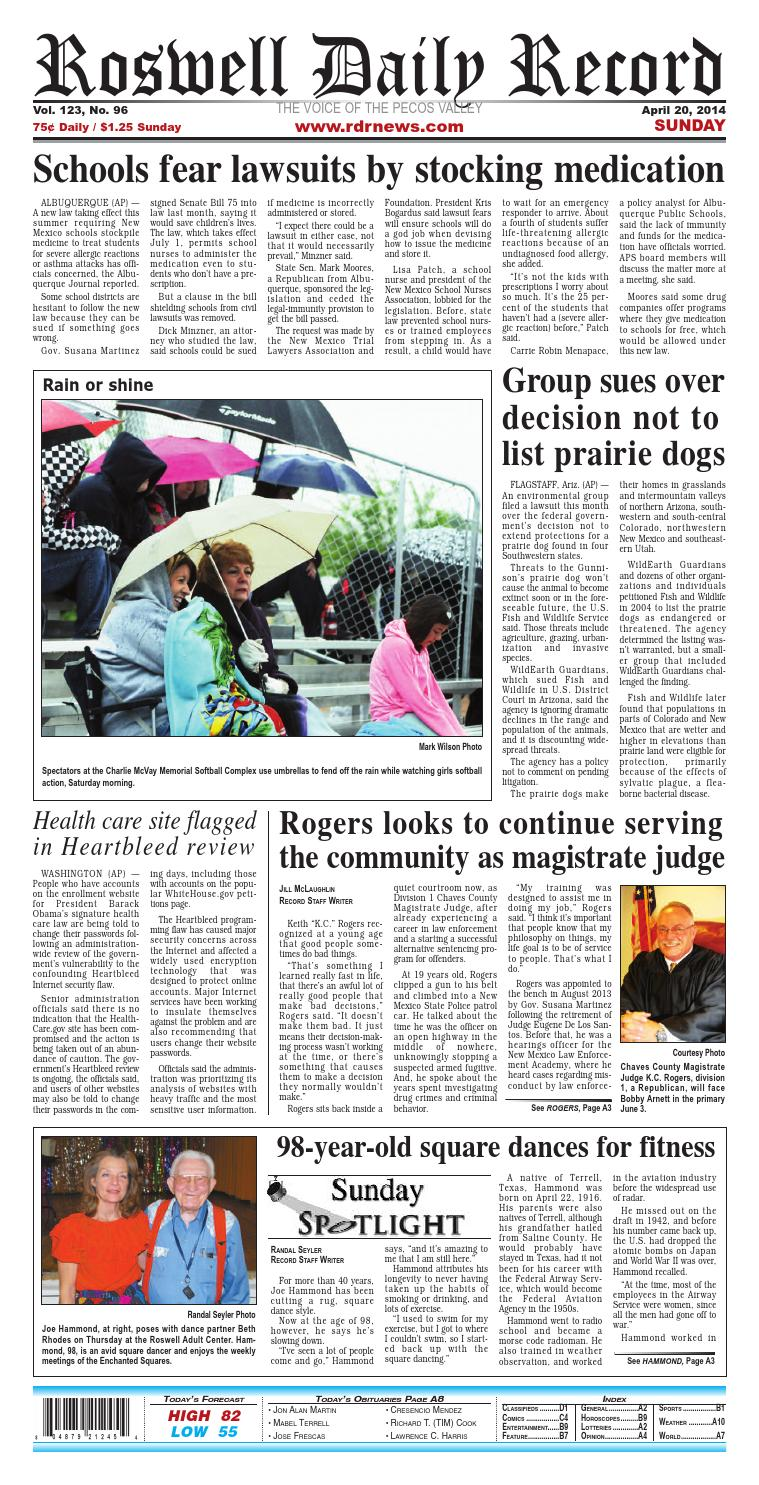 04 20 14 Roswell Daily Record by Roswell Daily Record - issuu
