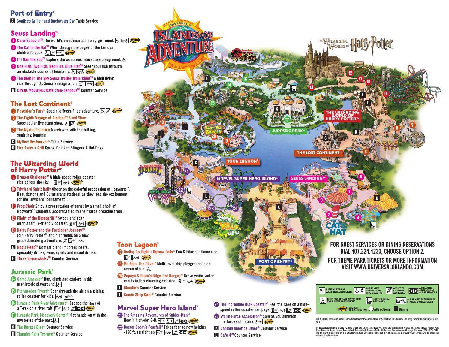 Mapa De Islands Of Adventure Orlando By Holaflorida Co Issuu